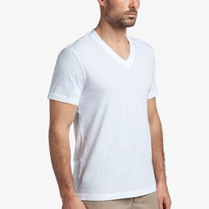 James Perse White Short Sleeve V Neck T Shirt